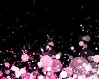 Abstract background of glowing lights. In beautiful shade of pink stock illustration