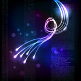 Abstract background with glowing lines. Stylized abstract background with moving glowing lines Stock Image
