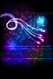Abstract background with glowing lines Stock Photos