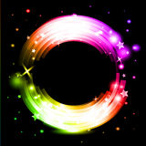 Abstract background. With glowing rainbow circle vector illustration Stock Images