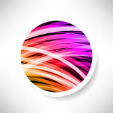 Abstract background. With glowing rainbow circle vector illustration Stock Image