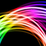 Abstract background. With glowing rainbow lines vector illustration Stock Image