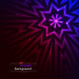 Abstract background. With glowing star. vector illustration Royalty Free Stock Image