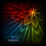 Abstract background. With glowing star. vector illustration stock illustration