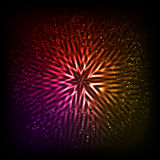 Abstract background. With glowing star. vector illustration Royalty Free Stock Photography