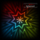 Abstract background. With glowing star. vector illustration Stock Photo
