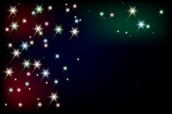 Abstract background with glowing stars Stock Photography