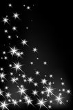 Abstract background with glowing stars. Christmas backdrop Royalty Free Stock Photo