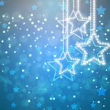 Abstract background with glowing stars. Abstract blue background with glowing stars Royalty Free Stock Image