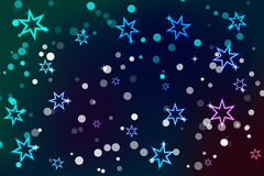 Abstract background with glowing stars. Eps 10 Royalty Free Stock Photo