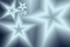 Abstract background with glowing stars. In metallic hues Stock Photos