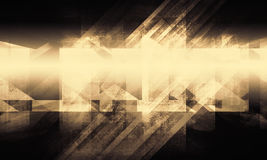 Abstract background, glowing structures. Abstract digital background with glowing chaotic structures pattern over black backdrop. 3d render illustration Royalty Free Stock Image