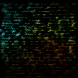 Abstract background: glowing text Royalty Free Stock Photo