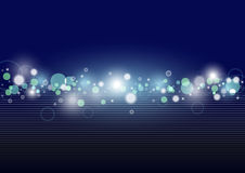 Abstract Background. With Glowing and Transparent Circles - Illustration, Vector Royalty Free Stock Photo