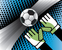 Abstract background with goalkeeper hands. Stock Image
