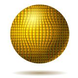 Abstract background with gold ball. Vector bubble stock illustration
