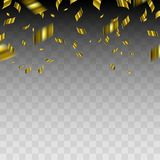 Abstract background with gold confetti. Vector illustration Royalty Free Stock Image