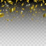 Abstract background with gold confetti. Vector illustration Royalty Free Stock Photos