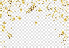 Abstract background gold confetti.  background Celebration. Vector illustration Royalty Free Stock Photos