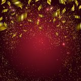 Abstract background with gold confetti. Vector illustration Royalty Free Stock Photography