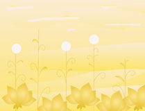 Abstract background with gold flowers. Vector illustration stock illustration