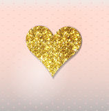 Abstract background with gold glitter heart Stock Image