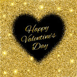Abstract background with gold glitter heart. Royalty Free Stock Images