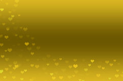 Abstract Background with gold hearts. Use for design Royalty Free Stock Images