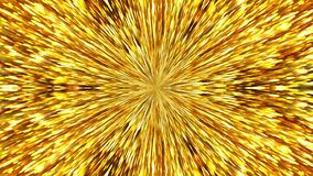 Abstract background with gold kaleidoscope. 3d rendering Stock Photo