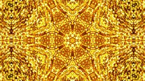 Abstract background with gold kaleidoscope Royalty Free Stock Image