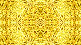 Abstract background with gold kaleidoscope Royalty Free Stock Photo