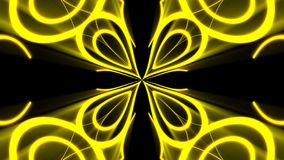 Abstract background with gold light kaleidoscope. 3d rendering Vector Illustration