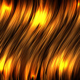 Abstract background with gold luminous wavy lines Royalty Free Stock Photo