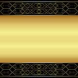 Abstract background gold metallic. Abstract background with a gold metallic element,  illustration Royalty Free Illustration