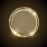 Abstract background with gold neon circles banner Royalty Free Stock Photos
