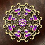 Abstract background with gold ornament. For creative design needs royalty free illustration
