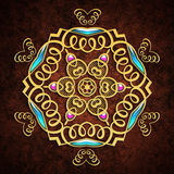 Abstract background with gold ornament. For multipurpose use in design Stock Illustration