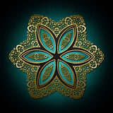 Abstract background with gold ornament. For multipurpose use in design Royalty Free Illustration