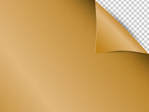 Abstract background and gold paper transparent background Stock Image