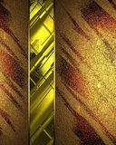 Abstract background with gold ribbon. Element for design. Template for design. copy space for ad brochure or announcement invitati. On, abstract background royalty free illustration