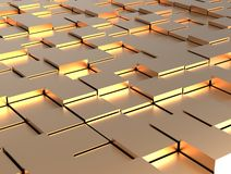 Abstract background - gold shiny different cubes Royalty Free Stock Photo