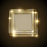 Abstract background with gold squares banner Stock Photos