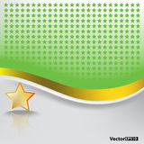 Abstract background with gold star. Abstract green background with gold star on white Royalty Free Stock Images