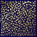 Abstract background with gold stars. On a black Royalty Free Illustration