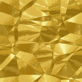 Abstract background gold texture resembling metal foil. Gold pattern with abstract triangular pattern Royalty Free Stock Photos