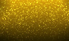 Abstract background of golden bokeh. Vector art illustration Stock Photos