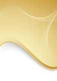 Abstract background with golden border and waves Royalty Free Stock Photo