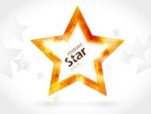 Abstract background with golden centre star. Horizontal background with star shape in the middle for your text. EPS10 royalty free illustration