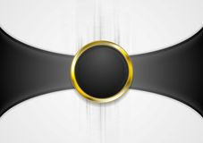 Abstract background with golden circle shape. Vector illustration Stock Photo
