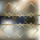 Abstract background with golden grid. Swatch of gold intertwined zigzag bands. Vector illustration Stock Image